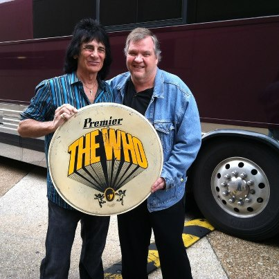 Bozzo & Meatloaf with Who drum head